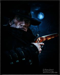 Portraits of Fantasy - Witch Hunter by Moonlight by Ed Rogers The witch hunter stands under the light of a blue moon, a Haloween image Fantasy Witch, Fantasy Books, Sci Fi Fantasy, Under The Lights, Blue Moon, Rogues, Concert, Moonlight, Artwork