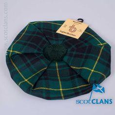 Pure wool tam in MacArthur Modern tartan - from ScotClans