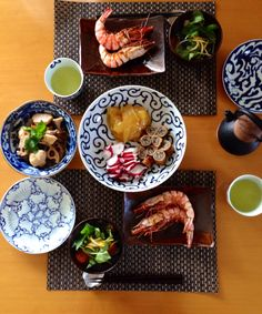 It's a Japanese table celebrating New Year.