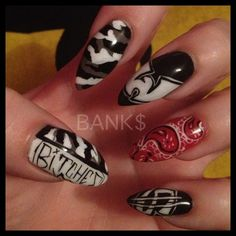 itsbanksbitches:  My Wu-Tang Clan Nails