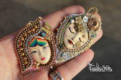 OOAK by Fantasiria, bead & zip embroidery handmade work