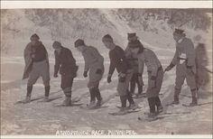 RP, Men, A Snowshoe Race, Winnipeg, Manitoba, Canada, 1920-1940s