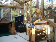 Wow!!!! I believe this is a Waldorf homeschool classroom. It seems very peaceful and calming.