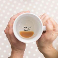 Funny Mugs, Secret Message Mug, coffee mug Funny Mugs Bottom of the Mug Message Secret by TheLetterLoftUK Miss You Gifts, Gifts For Mum, Love Gifts, Mother Gifts, Diy Gifts, I Love You Mum, I Love My Wife, Love You More Than, My Love