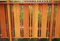 pics of wooden decks with privacy   Privacy' Railing