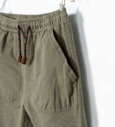 Image 3 of DRAWSTRING POCKETS TROUSERS from Zara