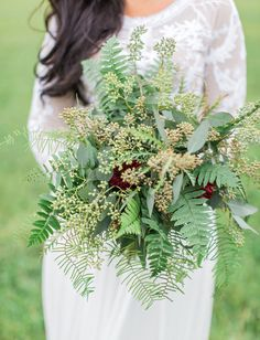 Wild green fall bouquet