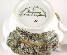 Heritage pattern by Ridgway Pottery - A Chanty on Lake Chaudiere - base of creamer