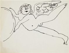 ANDY WARHOL (1928-1987) Angels two ink drawings on paper each: 8½ x 11 in. (21.6 x 27.9 cm.) Drawn circa 1954.