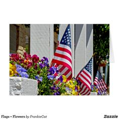 Flags + Flowers Card