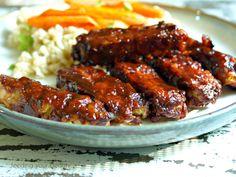 Sticky Baked BBQ Tempeh Strips (vegan, gluten-free, oil-free)