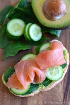 Smoked Salmon and Avocado Lunch Toast - notenoughcinnamon.com
