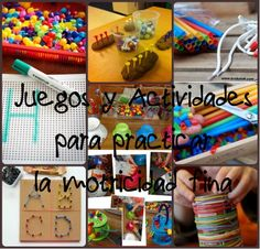 Juegos Motricidad Fina Motor Activities, Toddler Activities, Occupational Therapy, Fine Motor Skills, Games For Kids, Little Ones, Classroom, Teaching, Education