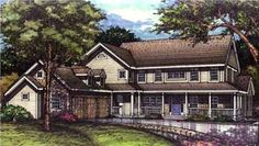 This set of Farmhouse Plans has many amenities abounding.