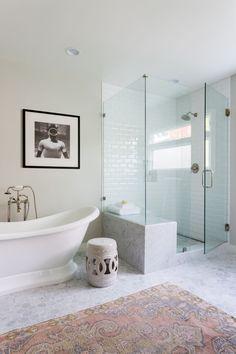 A Spa-Like Bathroom Makeover in Mar Vista Serene Bathroom, Spa Like Bathroom, Bathroom Red, Beautiful Bathrooms, Small Bathroom, Bathroom Ideas, Bathroom Closet, Minimal Bathroom, Bathroom Vanities