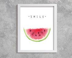 Watermelon Printable Art, Watermelon Wall Art, Fruit Wall Decor, Watermelon Download, watermelon print, watermelon painting, office decor