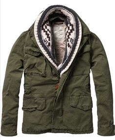 Scotch and Soda l Military Jacket + Shawl Scarf, <3 the scarf details