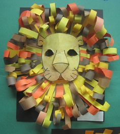 Bokstaven L Inspired Class: Construction Paper Lion Heads Projects For Kids, Art Projects, Crafts For Kids, Decoration Creche, Jungle Theme Classroom, Classroom Themes, Lion Craft, Afrique Art, Construction Paper Crafts
