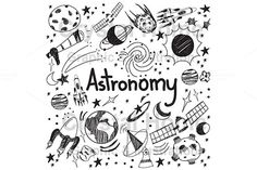 Astronomy education doodle icon by Crytal Home Images on @creativemarket