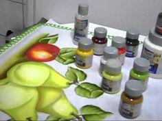 pintura em tecido projeto peras - YouTube