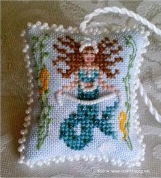 Cross Stitch Happy: Mermaid Scissor Fob