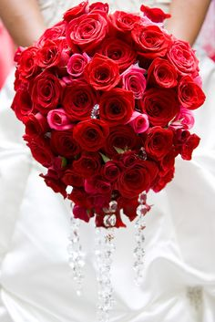 red bouquet crystals