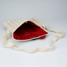 white crochet sling