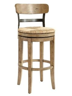 If your space is tight, choose stools with swiveling seats. You want to be able to turn easily to have a conversation without having to pull the barstool out and push it back. Marguerite barstool, $329, ballarddesigns.com