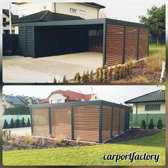 Modern Carport, Carport Garage, Pergola Carport, Carport Designs, Garage Design, Exterior Design, Prefab Garages, Franklin Homes, Modern Prefab Homes