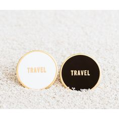 TRAVEL Enamel Pin ($14) ❤ liked on Polyvore featuring jewelry, brooches, enamel brooches, enamel jewelry, pin jewelry and pin brooch