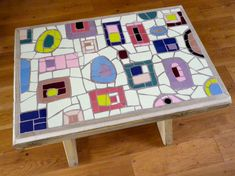 How cool is this funky mosaic bench?