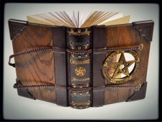 """""""The Necronomicon"""" - handmade wood, leather, and brass journal by Alex Libris Book Art (Stunning!)"""