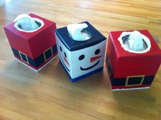 Hand painted tissue boxes - great Christmas gift for teachers or neighbors