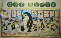 Penguin Facts classroom display photo from Carol.