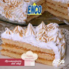 Pastel de caramelo con merengue Enco.
