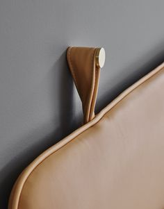 This wall mounted designer headboard is created in the finest cream colered semi-aniline leather & can be ordered in the exact size you need - see details. Booth Seating, Banquette Seating, Bedroom Furniture, Furniture Design, Plywood Furniture, Chair Design, Modern Furniture, Bed Boards, Brass Hook
