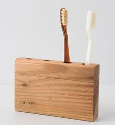 If you're going for a more rustic look in your bathroom, this is the toothbrush holder for you.