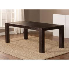 Have to have it. Hillsdale Simply Sydney Dining Table - Smoke Brown - $621.98 @hayneedle.com