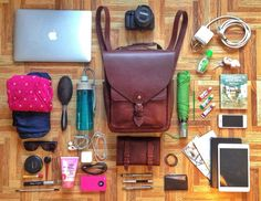 What can you fit in the Zinnia Convertible leather backpack bag? (hint: it's a lot more than you'd think!) www.IntrepidBags.com