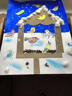 winter crafts for preschoolers Winter Art Projects, Winter Crafts For Kids, School Art Projects, Winter Kids, Art For Kids, Classe D'art, Preschool Crafts, Kids Crafts, New Year's Crafts