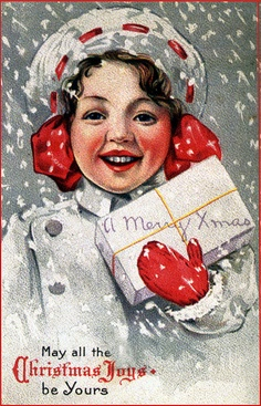 May all Christmas joys be yours. #vintage #Christmas #cards