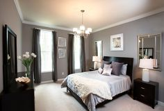 """It can be tricky to pick a wall color that suits both of your tastes, but the key is to choose the right tones and shades. For instance, blue can be considers a """"masculine"""" color, but if you lighten the shade a bit, it becomes for feminine. Or go with a neutral color like gray or beige that will work for both of you."""