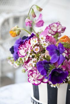 wildflower-style bouquet by Mary Kathryn Paynter -  inspired by Jonathan Adler & Simon Doonan
