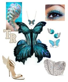 Butterfly costume by mariana-cufari on Polyvore featuring WithChic, Mbox Jewelry, Bling Jewelry, Jean-Paul Gaultier, women's clothing, women's fashion, women, female, woman and misses