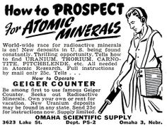 1947 - World-wide race for radioactive minerals is on!