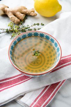 Slow Cooker Lemon-Ginger Vegetable Sipping Broth - BoulderLocavore.com