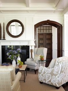 A Brighter Place: Cape Cod Style Home. Only in reverse that's a beautiful archway to the master suite!