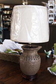 """Peter's Pottery Nutmeg 8"""" Vase Lamp"""