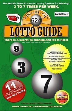 WinnersOnlyLotto - Winners Only Lottery Book