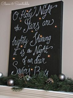 DIY Twinkle Christmas Canvas